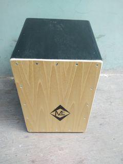 Black Cajon drum