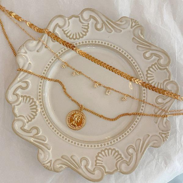 Clip Bold Pendant Layered Necklace