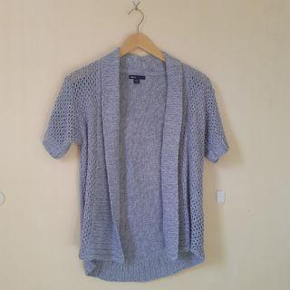 Dusty Blue Outer Short Sleeve Knit
