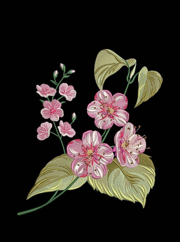 Embroidery Design: Gaura Flower