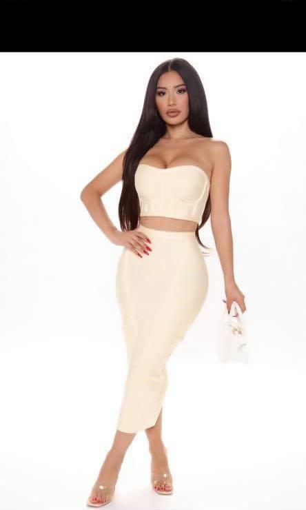 Fashion nova vip only skirt set