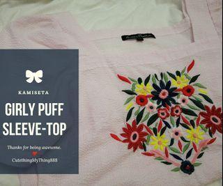 Girly Puff- Sleeve Top