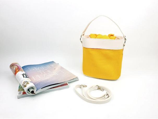 [JSK069] Bucket Bag_Yellow / Made In Korea