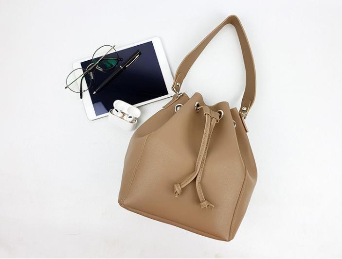 [JSK073] Bucket Bag_Beige/ Made In Korea