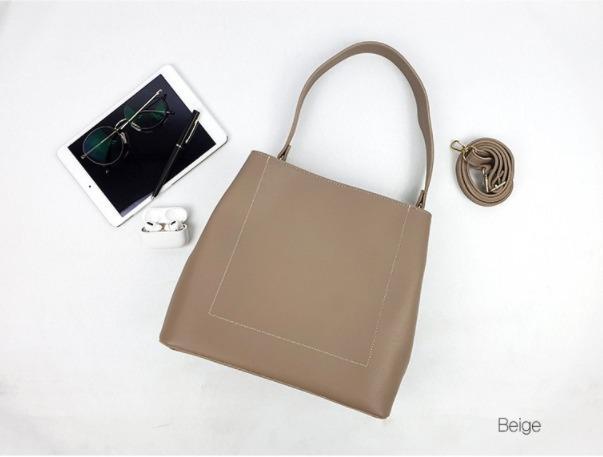 [JSK074] Shoulder Bag_Beige / Made In Korea