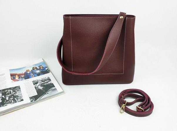 [JSK074] Shoulder Bag_Burgundy / Made In Korea.