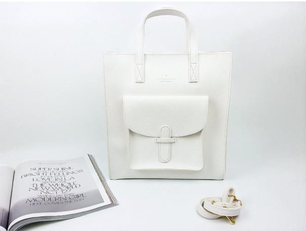 [JSK075] Tote Bag_White / Made In Korea