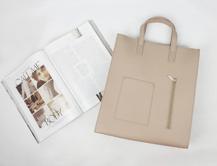 [JSK077] Tote Bag_Beige / Made In Korea