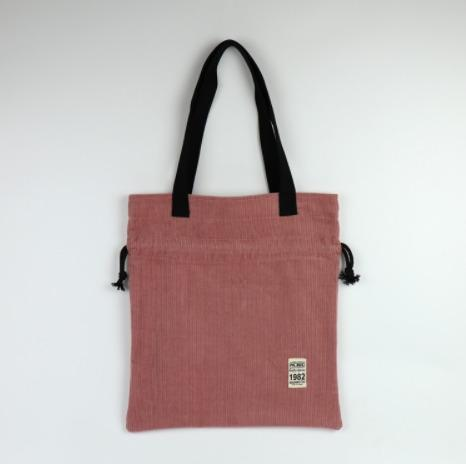 [JSK081] Corduroy Bucket Bag_Pink / Made In Korea