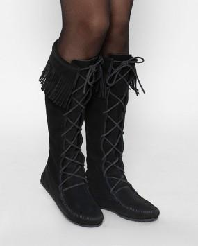 Minnetonka Moccasin Knee-High Suede Boots - Size 8