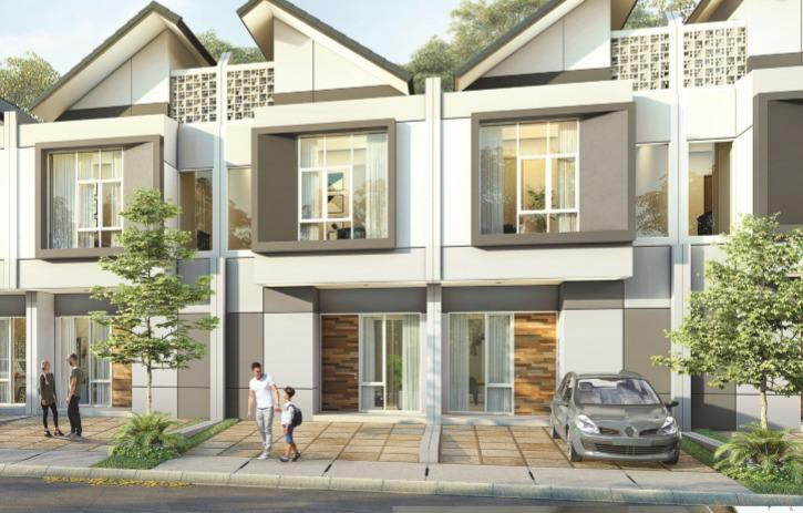 Rumah di Bekasi Barat 2,5 Lantai 3 km Dari Summarecon Tanah 108 m2 FULL BATA  MERAH