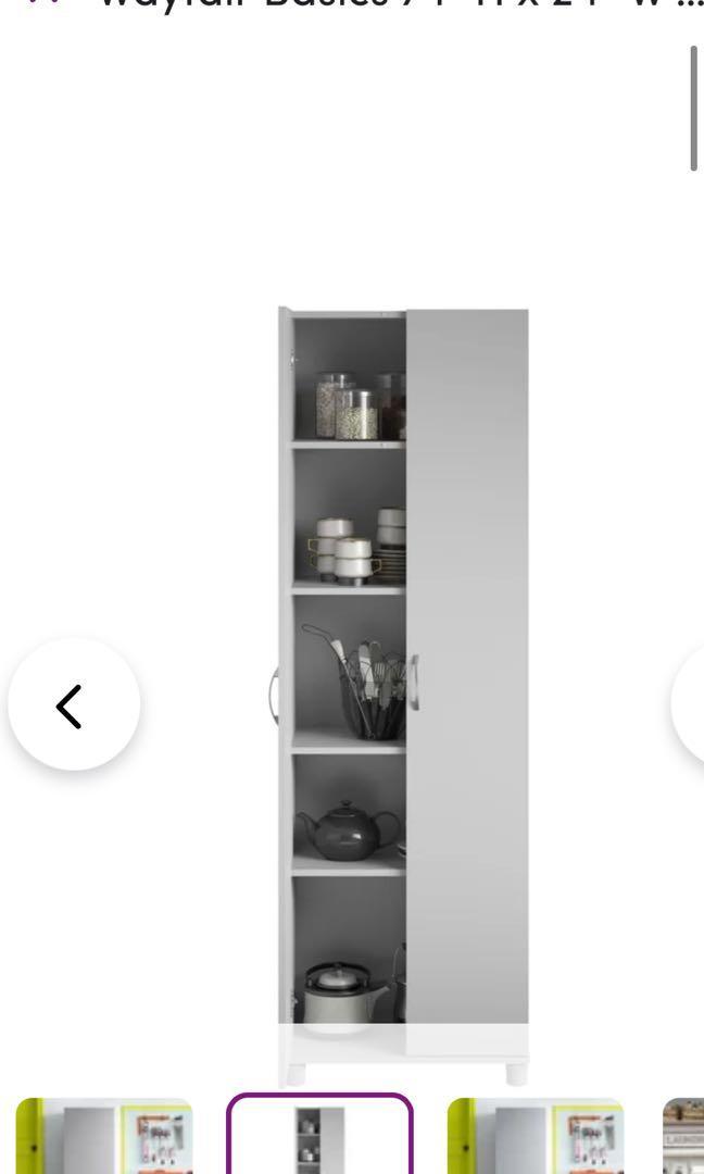 SET of TWO matching brand new never used wayfair original grey storage units