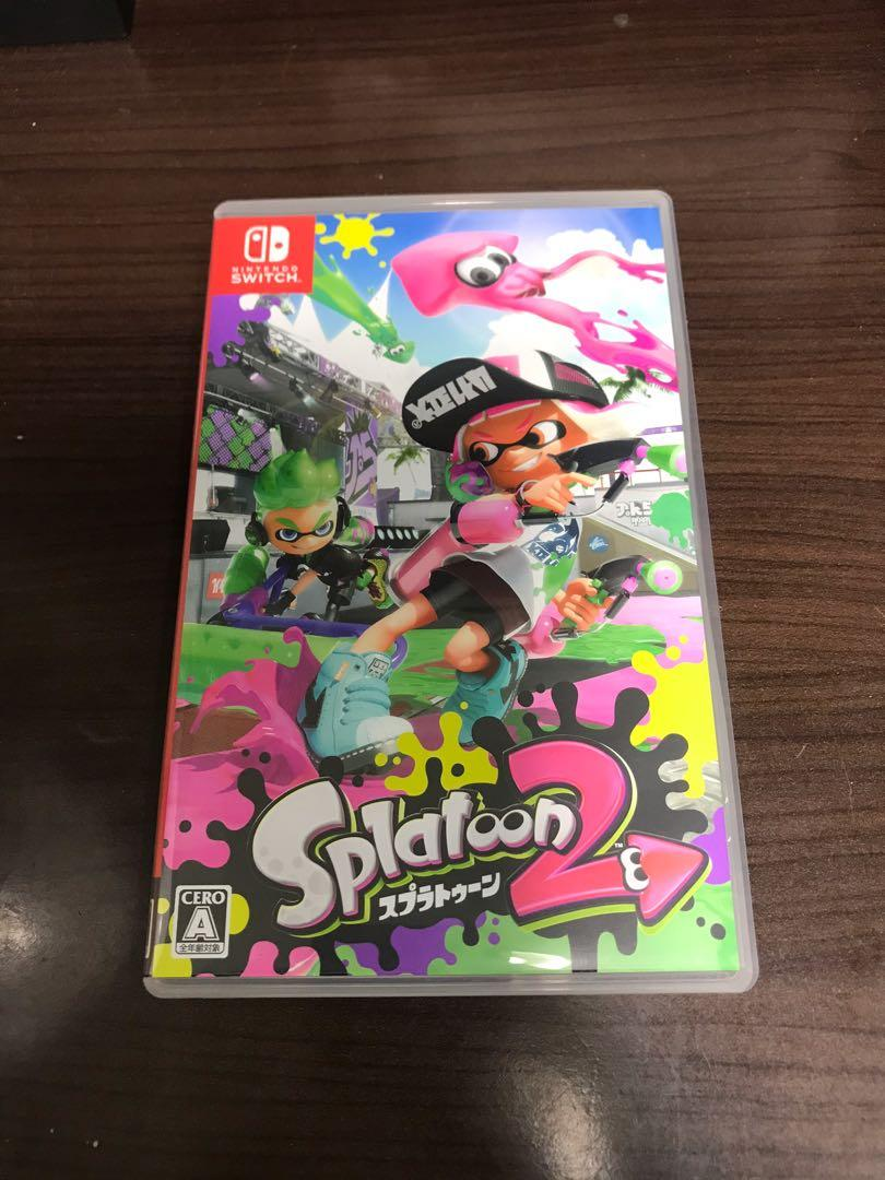Switch 日版 漆彈大作戰 2 噴射戰士 splatoon Ns 遊戲 卡帶