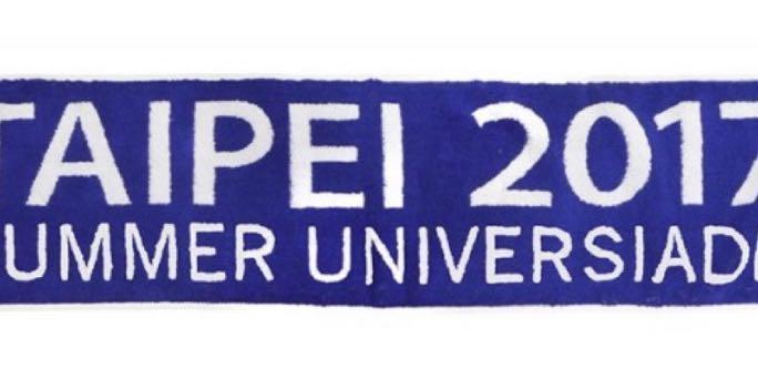 2017世大運 絕版 藍白毛巾
