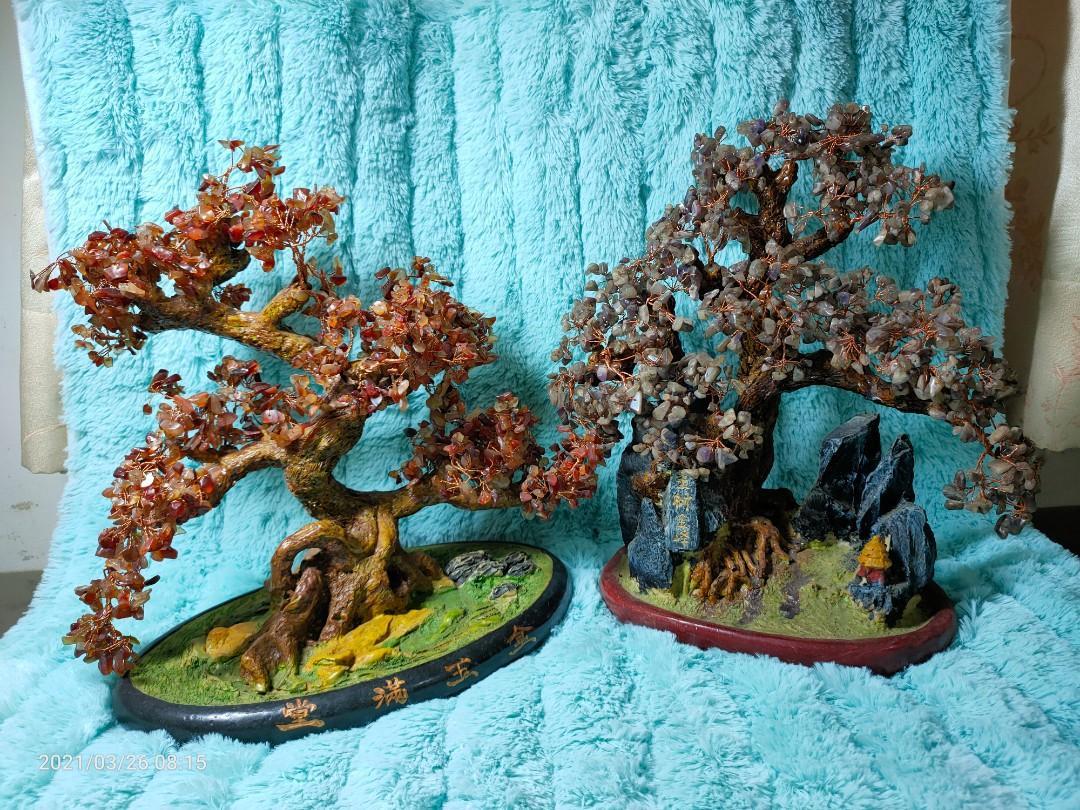 擺設水晶樹×2