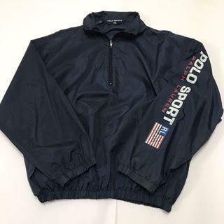 90's Polo Sport Windbreaker 半拉鍊防風外套
