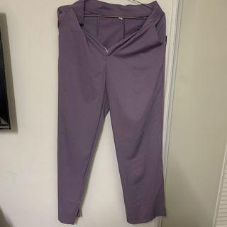 淺紫色西裝落地褲