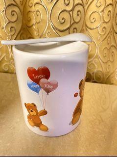 熊熊馬克杯(有湯匙)