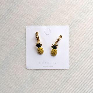 金屬鳳梨耳環🍍 夾式 耳夾