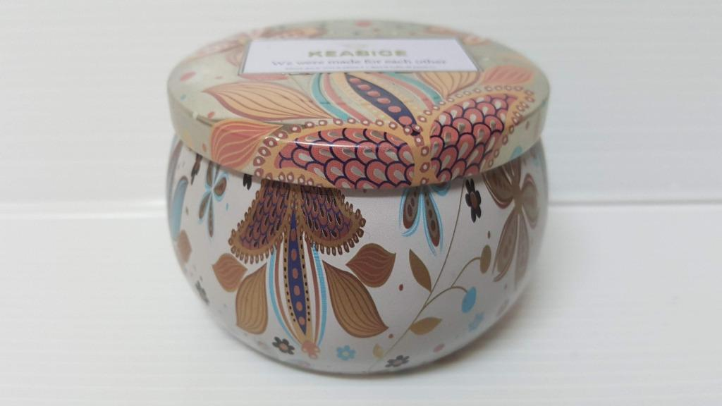 超美的華麗風北歐民族彩繪風馬口鐵盒 手工 天然大豆 香氛蠟燭