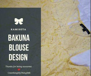 """Bakuna"" lace blouse design"