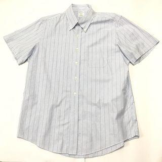 Brooks Brothers 鈕扣領牛津短袖條紋襯衫