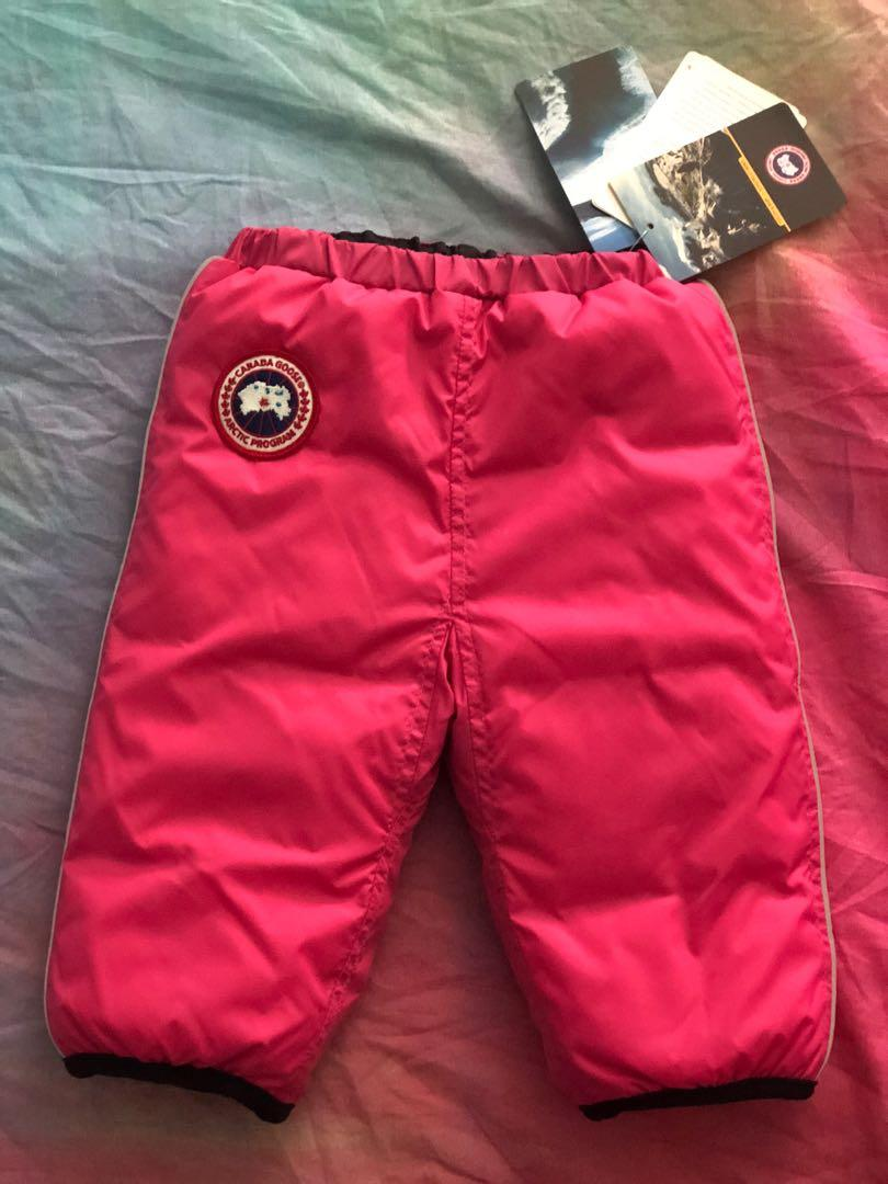 Canada Goose reversible snow pants for 6months old