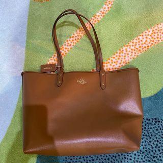 Coach 🐎 棕色托特包 內含小拉鍊包