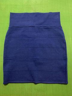 Cobalt blue bandage skirt