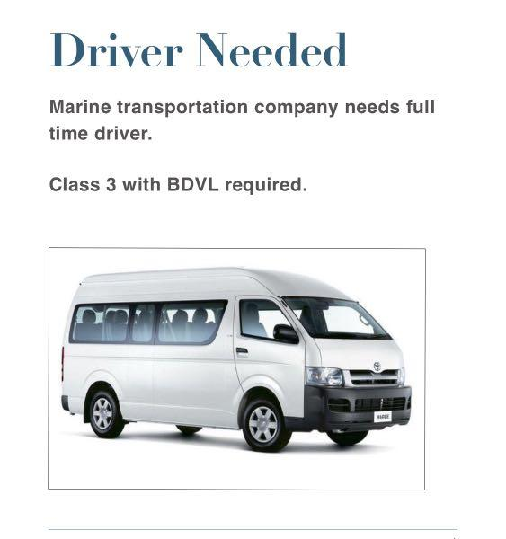FT Driver for  marine transport company
