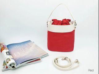[JSK069] Bucket Bag_Red / Made In Korea