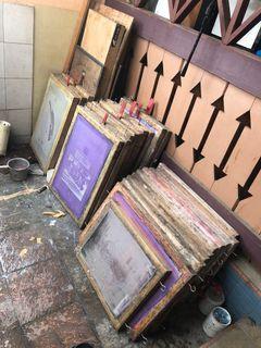 jual alat sablon ! screen sablon murah, dijual karna sudah jarang diapakai karna sudah ganti scren alumunium