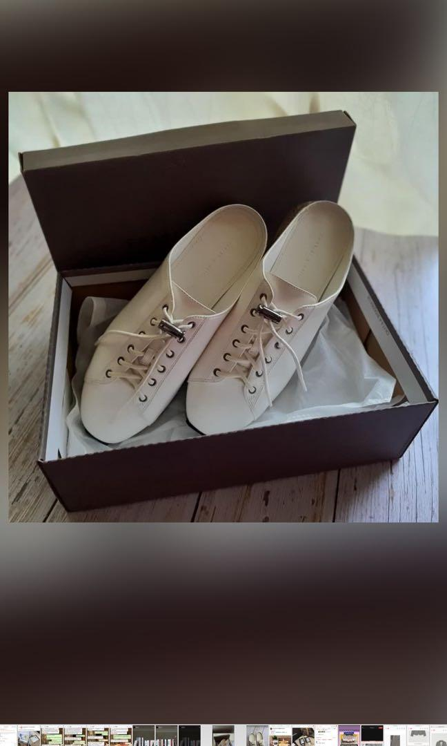 LF EXACT SAME PAIR Charles & Keith White Sneakers in size 36