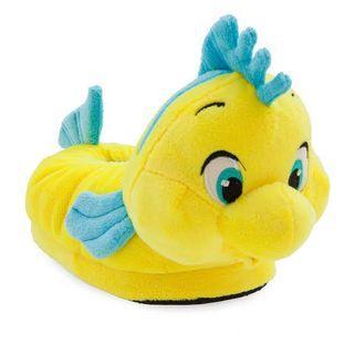 Little Mermaid Plush Slippers (Flounder)