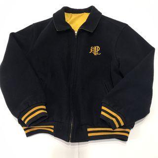 Rare 90's Reversible Polo Sport P Logo Varsity Jacket 雙面穿學院風羊毛外套 大P