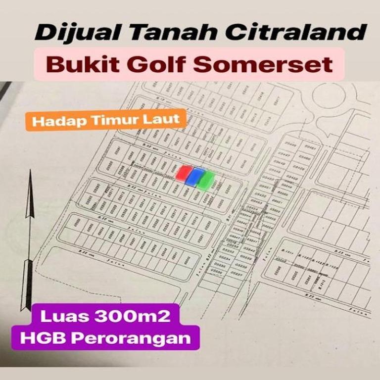 Tanah Citraland BUkit Golf Sommerset Surabaya