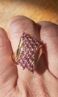 Vintage Pink Gemstone Ring