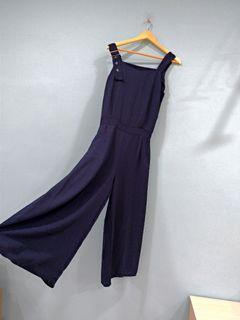 藏藍色連身寬褲