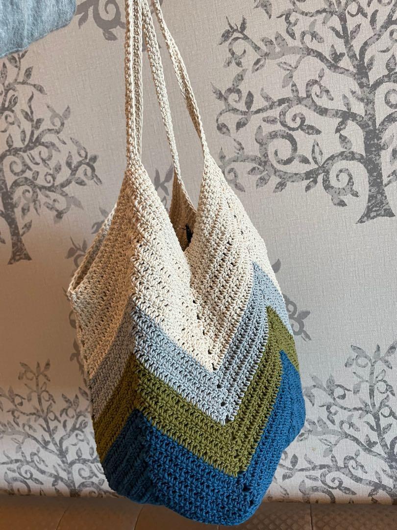 (出清)手編棉線提袋