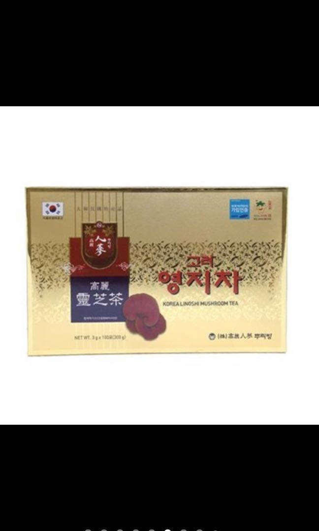 台灣現貨💥 快速出貨 💥💯正品韓國高麗靈芝茶/ 韓國高麗紅蔘茶/韓國高麗人蔘茶/ 100包/盒