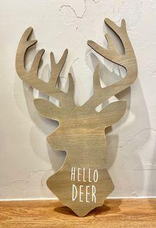 [二手/家飾品] 鹿 木質 英文字 掛飾 壁飾 壁掛 北市自取