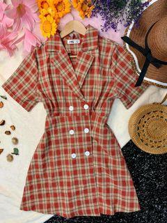 BKK Plaid Button Down Dress