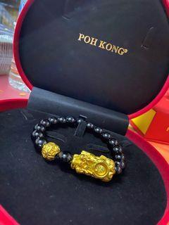 bracelet dragon emas 999 poh kong
