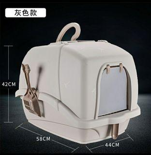 Cat litter box basin toilet pan, not tier cage carrier bags condo house