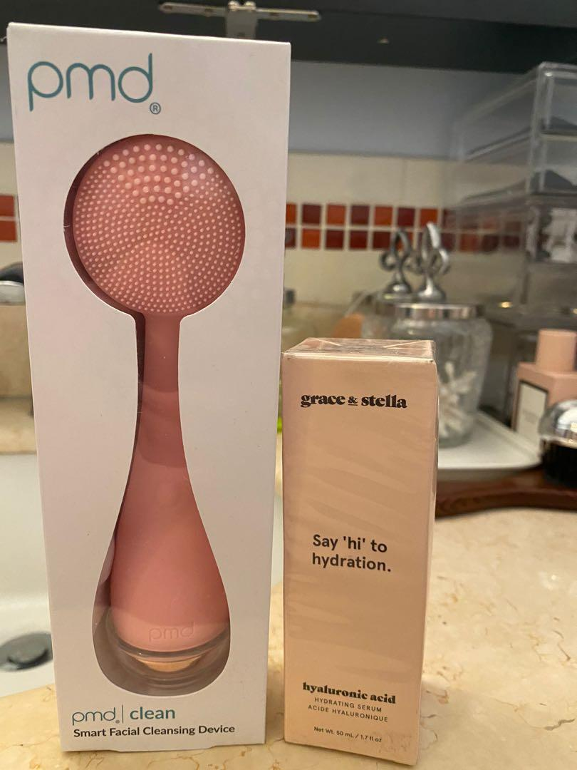 Facial cleaning wand and serum