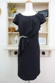 名媛專櫃IRIS珍珠設計師剪裁洋裝 #女裝賣家