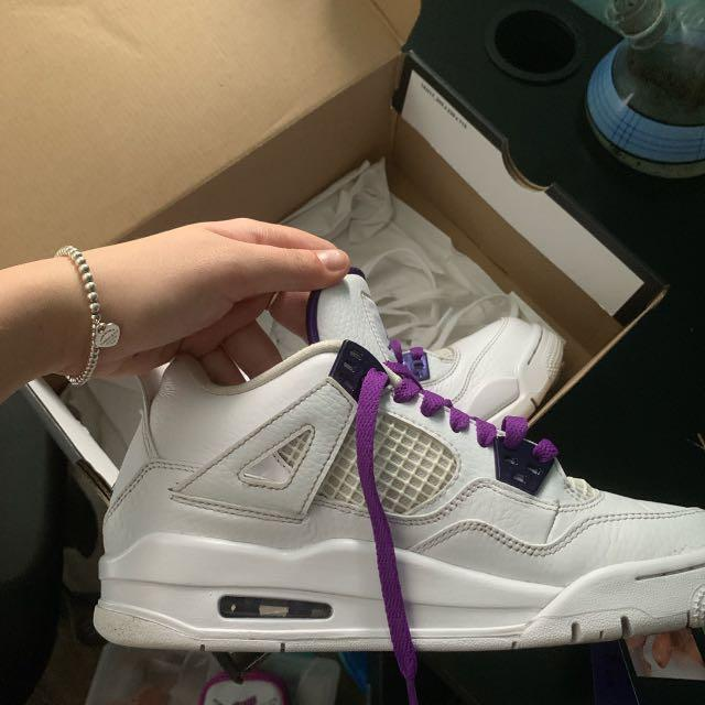 Jordan 4 metallic purple size 6Y