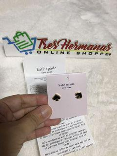 Kate Spade New York Everyday Spade Stud Earrings (Black)