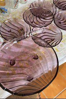 Set piring kue 1 besar + 6 kecil