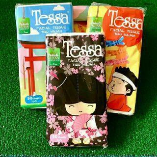 Tissu Tessa Travel Pack 2 ply (Facial Tissue) 50 Lembar
